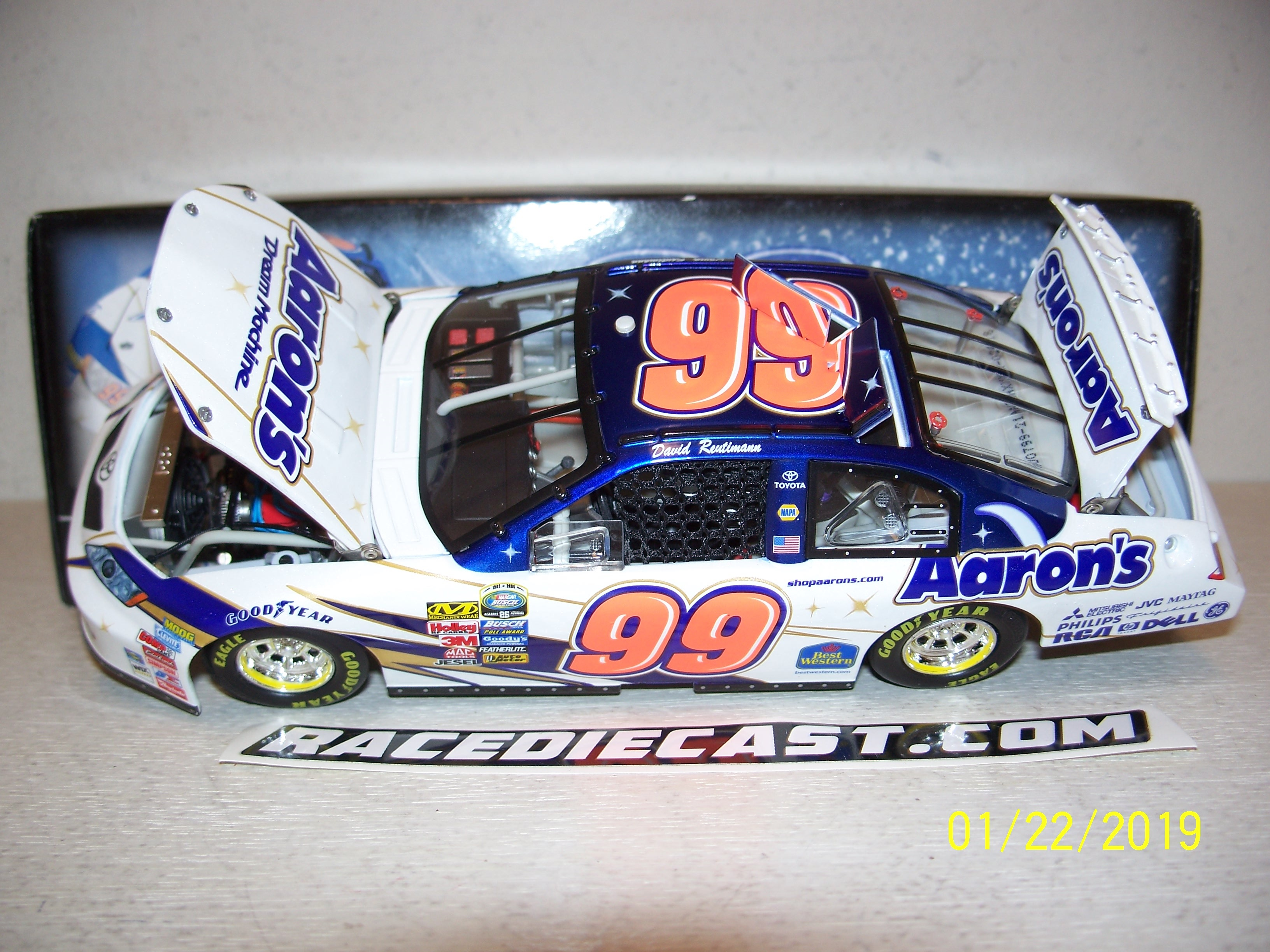 New 1998 Racing Champions 1:64 NASCAR Jeff Burton Exide Ford Thunderbird #99