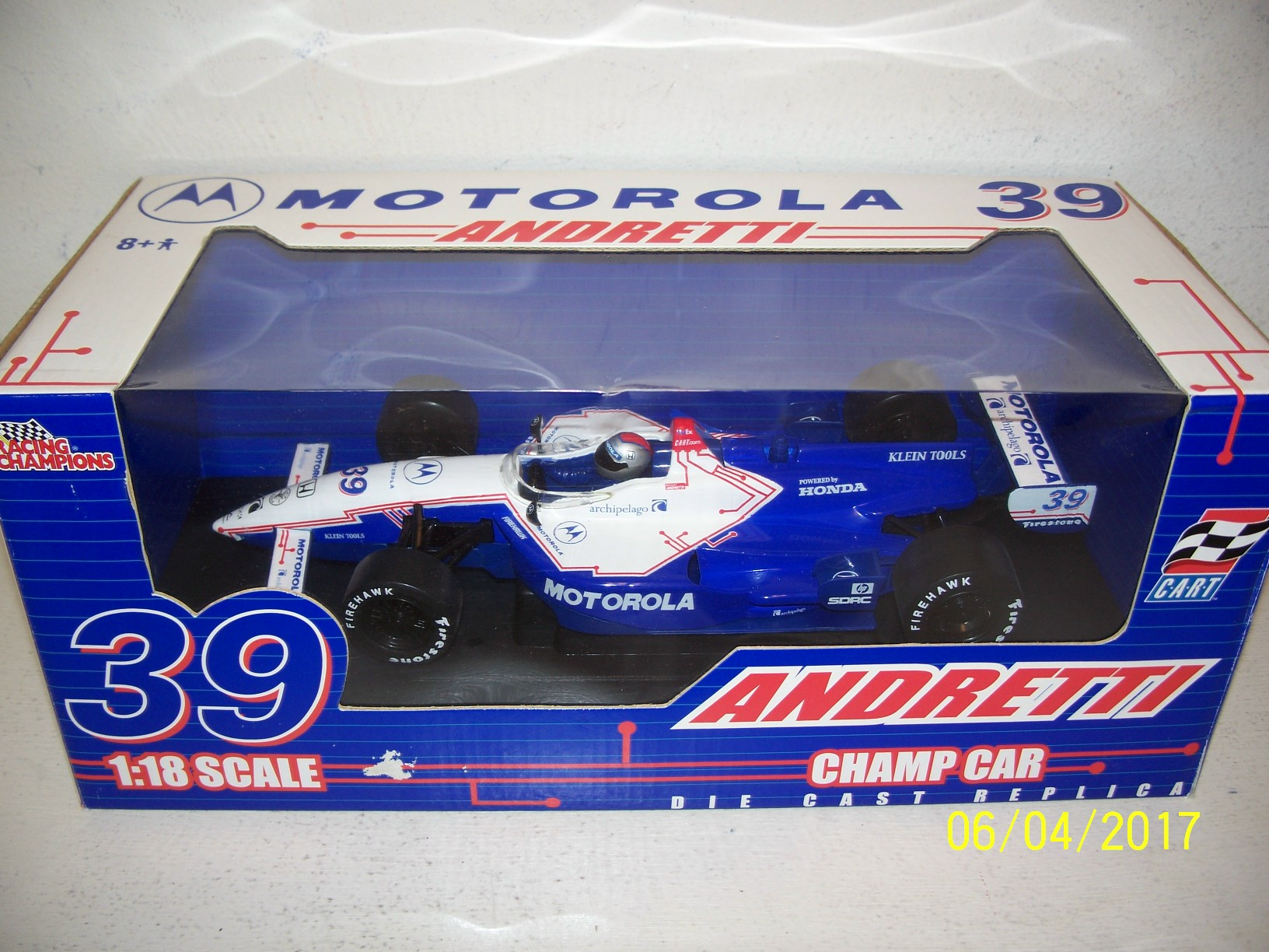 Die cast racing collectables indy cars