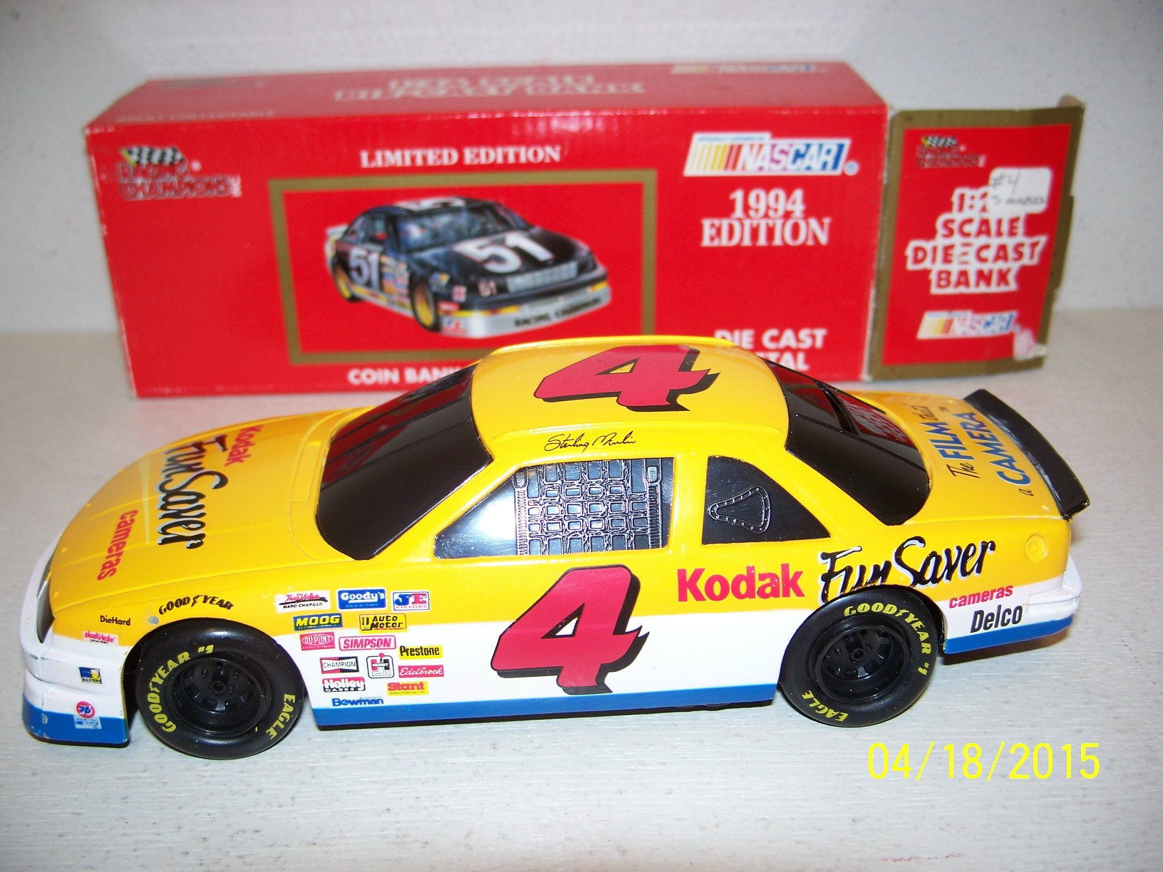 1994 Racing Champions 1:24 Diecast NASCAR Sterling Marlin Kodak Chevy Lumina c